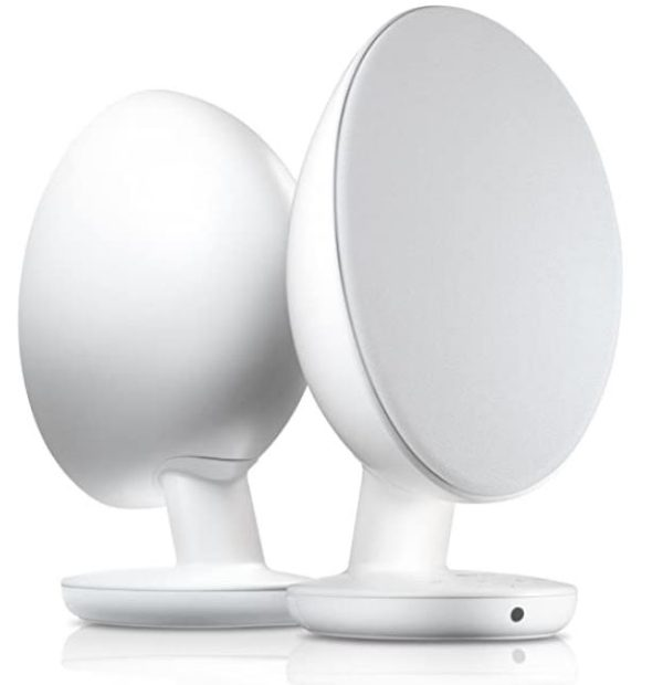 KEF EGG SERIES STEREO BLUETOOTH ACTIVE SPEAKER - UK (WHITE)